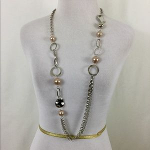 Long Necklace with Matching Earrings